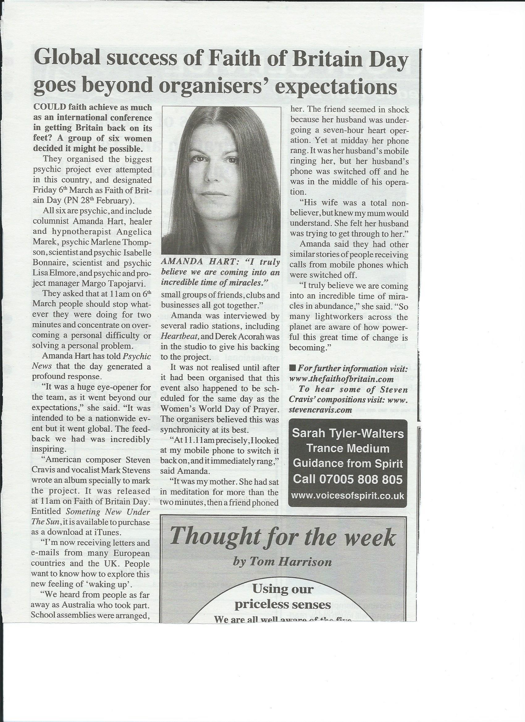 Psychic News 2009