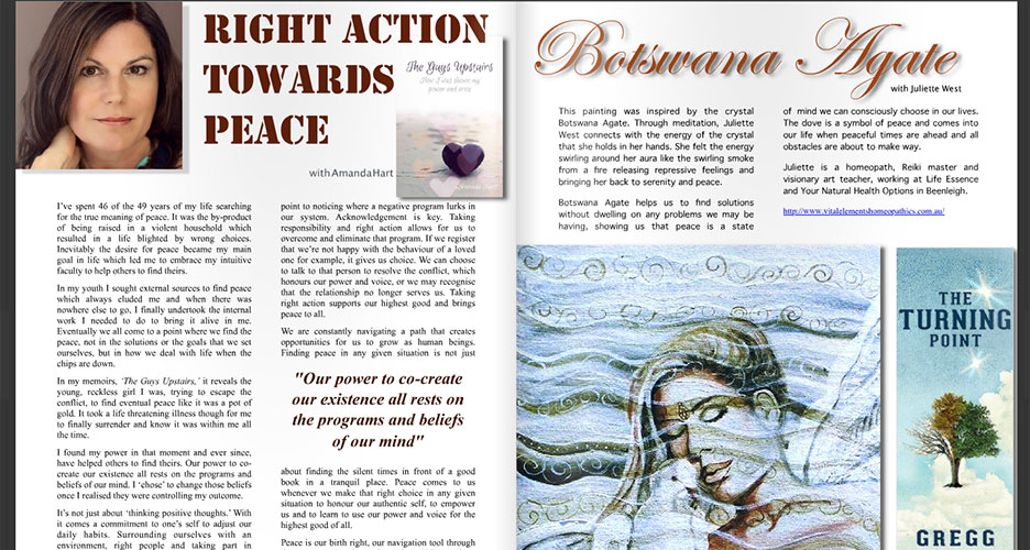 Lightworker Advocate Magazine - Article written for October 2016 Issue